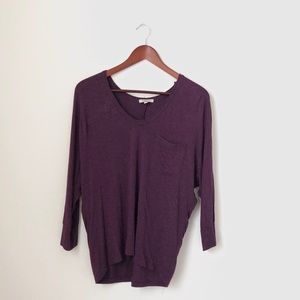 Bordeaux•Purple Long Sleeved Top
